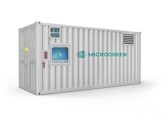 Containerized large-scale energy storage